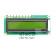 1602 LCD (LimeScreen) 5VDC w/Backlight