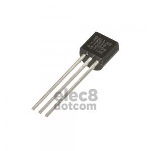 DS18B20 1-Wire digital temperature sensor TO-92 price 30 baht