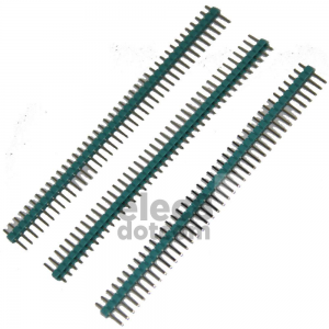 Male Header 2.54MM pitch single row 1x40 pin green price 5 baht