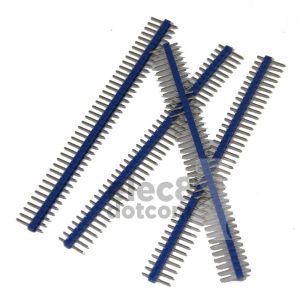 Male Header 2.54MM pitch single row 1x40 pin blue price 5 baht