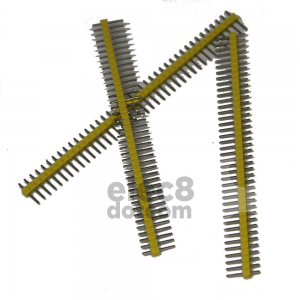 Male Header 2.54MM pitch single row 1x40 pin yellow price 5 baht