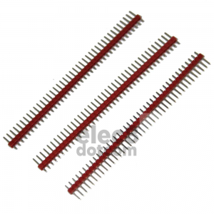 Male Header 2.54MM pitch single row 1x40 pin red price 5 baht