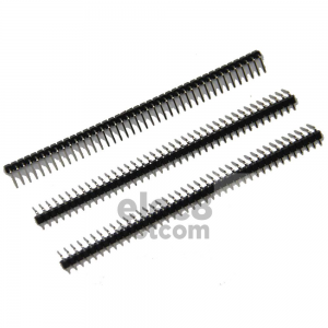 Male Header 2.54MM black pitch 90 degrees single row 1x40 pin price 7 baht